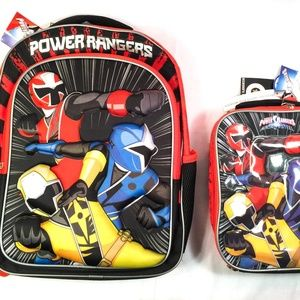 Power Rangers Backpack & Lunch Bag